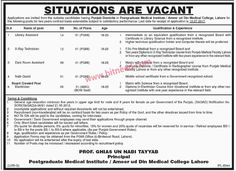 Postgraduate Medical Institute, Ameer-ud-Din Medical College Lahore, Library Assistant, X-Ray Technician & Other Jobs, Jun 2017 Last Date: 10-07-2017   #Dark Room Attendant #Electrician #Health Jobs #Hospital Jobs #Lahore Jobs #Library Assistant #Naib Qasid