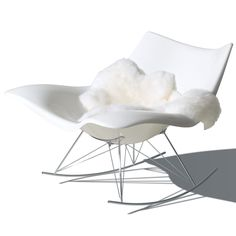 Thomas Pedersen Stingray Rocking Chair for Fredericia Furniture - An eye-catching almost futuristic interpretation of the classic rocking chair. A modern, dynamic piece of furniture built for comfort and which accommodates a variety of sitting positions. Scandinavian Furniture, Modern Furniture, Home Furniture, Furniture Design, Office Furniture, Architecture Design, Decoration Entree, Scandinavia Design, Danish Design Store