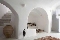 GREECE CHANNEL | Villa Ares, in Santorini, Cyclades, Greece. #interior #greek #white