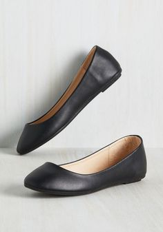 Skimmer Me Timbers Flat in Black, @ModCloth