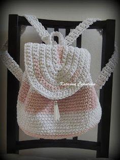 Háčkovaný ruksak - návod - Bobbiny Crochet Bag Tutorials, Crochet Patterns, Knit Crochet, Crochet Hats, Bandana, Beanie, Backpacks, Embroidery, Sewing