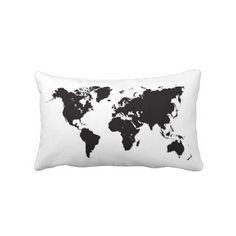 world map pillow. To dream sweet dreams of travel :)