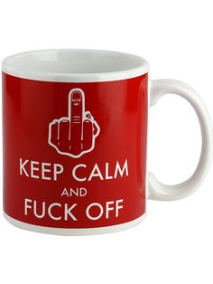 """Keep Calm and Fuck Off"" Giant Mug (White/Red) #InkedShop #mug #humor #gift #kitchenware"