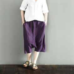 Purple Haroun Shorts Women Pants LR0044