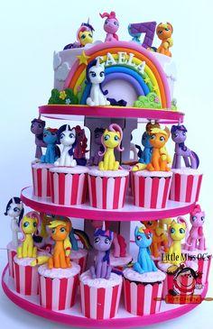 https://flic.kr/p/NrCvBk | my little pony cupcake tower