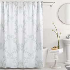 Adina Shower Curtain in Mist