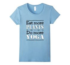 Vegan - yoga healthy quote Eat more plants Do more yoga t-shirt. This shirt comes in a variety of colors and sizes for women, men and youth in 5 colors. #quotes #veganquotes #yogaquote #yogaquotes #vegan #yoga #veggie #vegetarian #loveranimals #animals #dog #cat  #tee #clothing #tshirts #shirts #design #amazon  #funny #happylife #funnyquotes #funnyquote