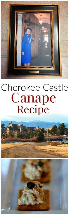 Famous Cherokee Castle Appetizer Recipe. Easy deviled ham party canape. Served to royalty and distinguished guests,  and easy enough for your next party.