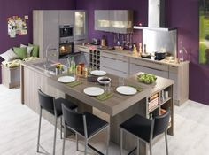 Original Colors for your Kitchen Backsplash Furniture, Kitchen Furniture, Cuisine Design, Home Furniture, Kitchen Remodel, Modern Kitchen, Sweet Home, Home Kitchens, Kitchen Living