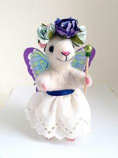 NEEDLE FELT MOUSE Fairy mouse  Cute mouse Needle felt