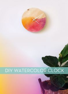 Nice DIY Watercolor Clock - not sure about the colours, but certainly an interesting twist for a plain wood clock