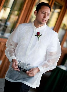 Barong Tagalog for the groomsmen & father-in-law