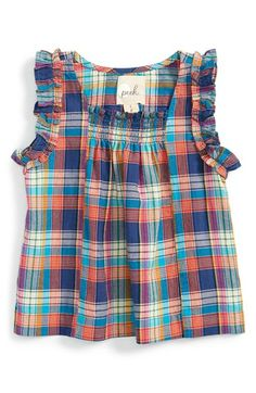 Free shipping and returns on Peek 'Allegra' Plaid Tunic (Baby Girls) at Nordstrom.com. A smocked neckline and ruffled sleeves lend easygoing charm to a breezy cotton tunic patterned in colorful plaid.