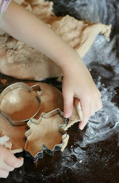 Pumpkin Spice Salt Dough for Ornaments or Table Decor from Fun at Home with Kids