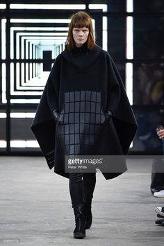 A model walks the runway during the Y3 Menswear Fall/Winter 2016-2017 show as part of Paris Fashion Week on January 24, 2016 in Paris, France.