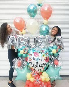 Image may contain: 2 people Balloon Gift, Balloon Garland, Balloon Decorations, Balloon Columns, Birthday Party Decorations, Baby Shower Decorations, Balloon Ideas, Mothers Day Balloons, Happy Balloons