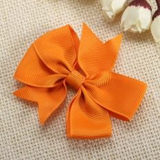 Lady Girls Baby Kids Flowers Butterfly Bow Ribbon Hair Accessory No Clip Orange - Intl