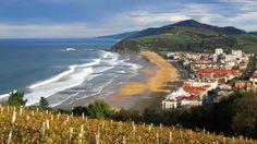 Playa de Zarautz - Viñedos de Txakolí y Costa de Gipuzkoa (Fotos de Euskadi) | fotoviajero.com