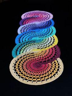 Swirl Rainbow Rug #notapattern #inspiration                                                                                                                                                      More
