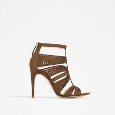ZARA - COLLECTION SS16 - LEATHER STRAPPY HIGH HEEL SANDALS