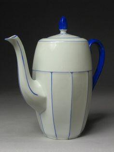 a beautiful czech teapot
