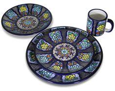 Talavera Dinnerware Collection - Dinnerware Pattern 3 - SET003 ♥️♣️♣️Talavera Mexican Pottery : More At FOSTERGINGER @ Pinterest ♣️