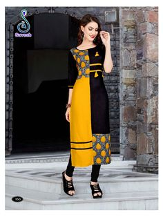Suvesh Natasha Vol 11 Kurti Wholesale Catalog 8 Pcs Salwar Designs, Kurta Designs Women, Kurti Designs Party Wear, Blouse Designs, Kurti Sleeves Design, Kurta Neck Design, Kurta Patterns, Dress Patterns, Girls Kurti