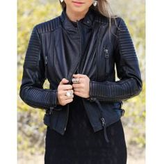 Stylish Stand-Up Collar Long Sleeve Zippered PU Women's Jacket