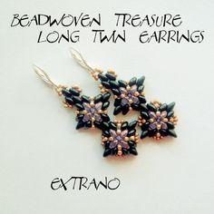 TUTORIAL  - earrings - LONG TWIN Earrings - immediate download. $5.00, via Etsy.