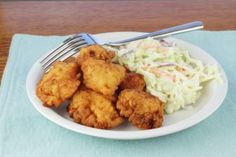 Dr Oz made a healthy fried chicken recipe along with a healthy coleslaw, can't wait to try this!