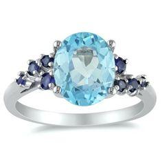 Amazon.com: Sterling Silver Gemstone Ring: Jewelry