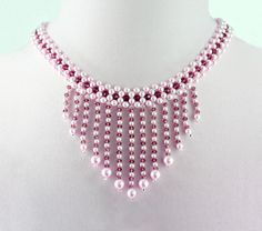Free pattern for necklace Verushka Click on link to get pattern…