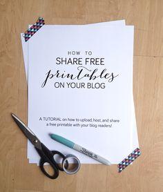 sharing free printables