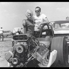 Vintage Drag Racing - Happy Couple