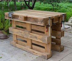 Pallet Work Bench  -  #pallet  #workbench  #diy