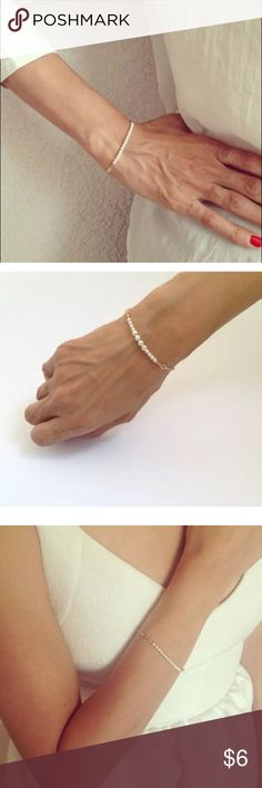 Simple Gold and Pearl Bracelet Brand new Jewelry Bracelets