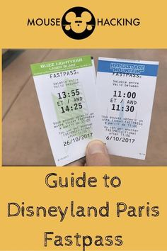 The Guide to Disneyland Paris Fastpass!