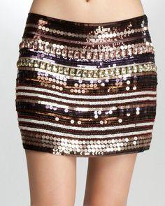 bebe sequins skirt
