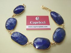 Pulsera de plata 925m y lapislázuli. www.capricciplata.com  www.facebook.com/capricci.plata1