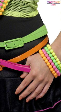Need to add some neon to your 80s costume? Neon bracelets are always the answer. **We ship worldwide** Take a look: http://www.fancydress.com/costumes/Beaded-Bracelet/0~4498419