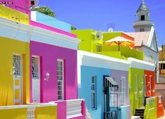 Planning on going to Africa? Check out this amazing place in South Africa. Which Country in Africa do you want to visit the most? Bo Kaap, formerly known Bo Kaap houses: Most colourful district in Cape Town, South Africa To Go, Le Cap, Colourful Buildings, Colorful Houses, Cape Town South Africa, Oh The Places You'll Go, Dream Vacations, Vacation Travel, Cape Town