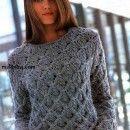 Как связать женский свитер с фантазийным узором