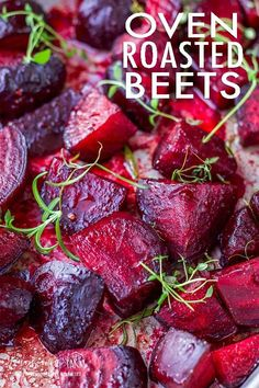 Oven Roasted Beets with Balsamic Glaze - Oven roasted beets are incredibly easy to prepare and the whole family will love them! This simple recipe takes bland to delicious and everyone is a beet lover after they try it! Side Dish Recipes, Vegetable Recipes, Vegetarian Recipes, Cooking Recipes, Beet Recipes Healthy, Recipes For Beets, Beetroot Recipes, Beet Salad Recipes, Gourmet