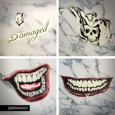 The jokers left hand tattoo suicide squad movie pinteres for Suicide squad face tattoo