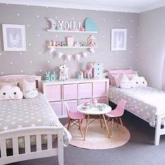 Chambre Petite Fille Rose Et Gris Maison
