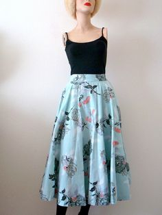 1950s Circle Skirt  / A Rose is a Rose