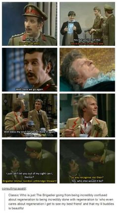The Doctor and Brigadier Lethbridge-Stewart, Head of U.N.I.T