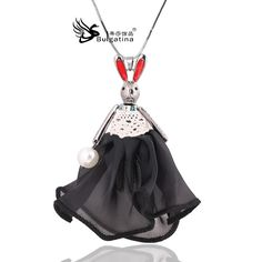 2015 winter imitation pearls chain doll necklace mink sweater chain fashion doll red rabbit ear style necklace wholesale&retail