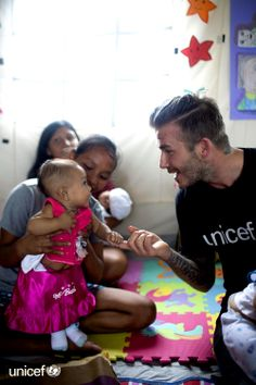 David Beckham, UNICEF Goodwill Ambassador, is in the Philippines today to meet children affected by Typhoon THANK YOU for your support for the children of the Philippines! David Beckham Age, Charming Man, Beautiful Children, Beautiful People, Worlds Of Fun, Victoria Beckham, Football, Sports, Men