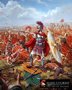 ancient history battles - roman soldiers - military art ...